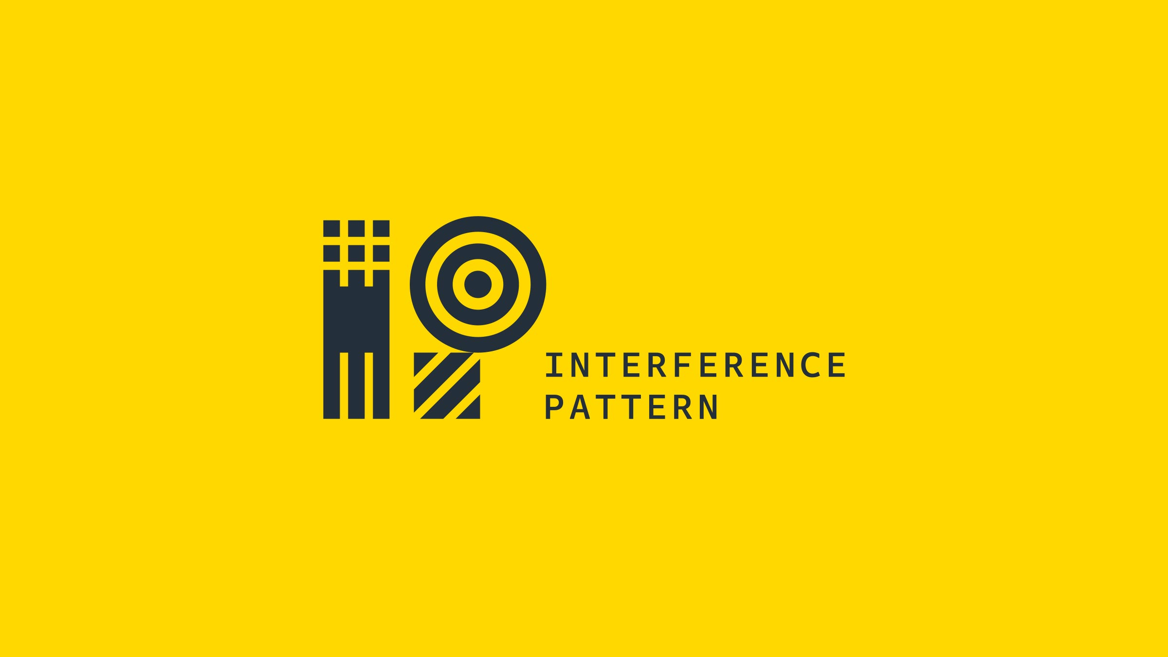 Interference Pattern branding and identity logo by Monumentum Brands