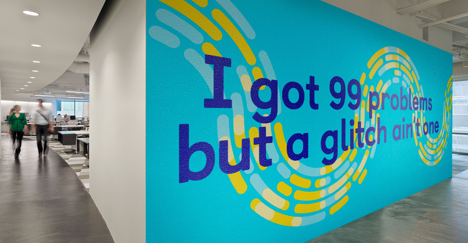 QikServe office graphics designed by Monumentum